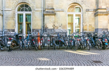 A Row of Bicycles at Maastricht, Netherlands