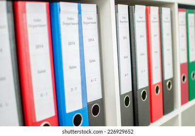 Row of binders