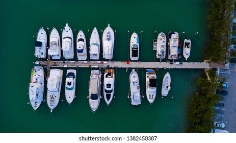 Row of boats at a dock