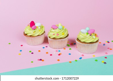 cupcake background images stock photos vectors shutterstock https www shutterstock com image photo row bright pistachio easter cupcakes decorations 1712007229