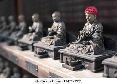 Row of Bronze Jizo Statues, Daisho-in Temple, Miyajima