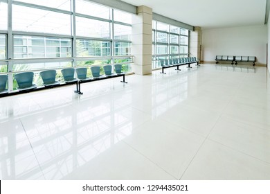 Row of chairs in the waiting room.