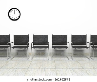 Row of chairs in waiting room