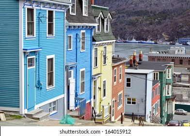 Row of colorful houses in the city of Saint John's, Newfoundland, Canada.