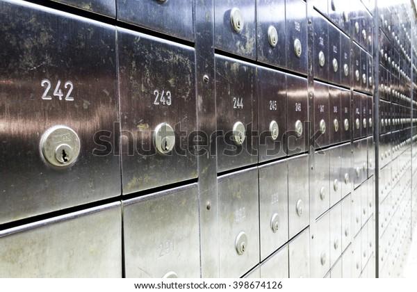 Row of a deposit safe