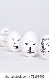 Row of eggs