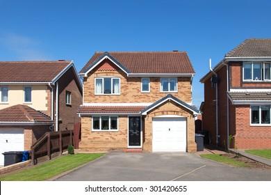 Row of elegant detached houses