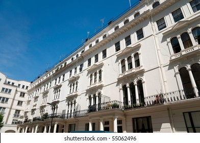 Row of flats in notting hill