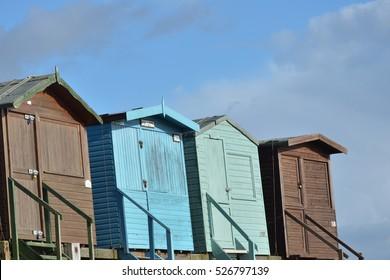 Row of Four Beach huts
