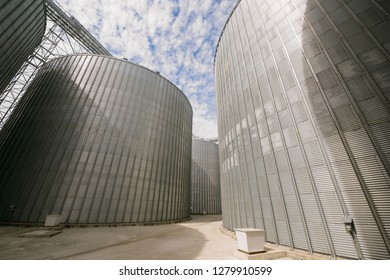 Row of granaries for storing wheat and other cereal grains