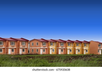 Row house for mass housing- ready for occupancy houses