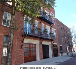 Row Houses in Historic Downtown Wilmington, North Carolina