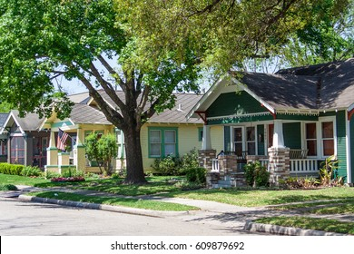 A row of houses in the historic Houston Heights