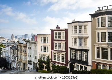 row houses in a large city