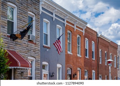 Row houses in Locust Point, Baltimore, Maryland