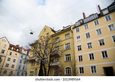 Row of houses in Munich, Schwabing