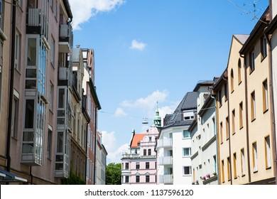 Row of houses in Munich Schwabing