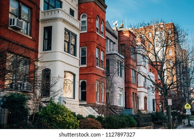 Row houses on 15th Street in Washington, DC.