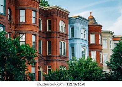 Row houses at Seward Square, in Capitol Hill, Washington, DC.