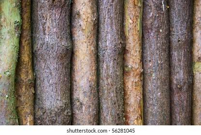 A row of logs.