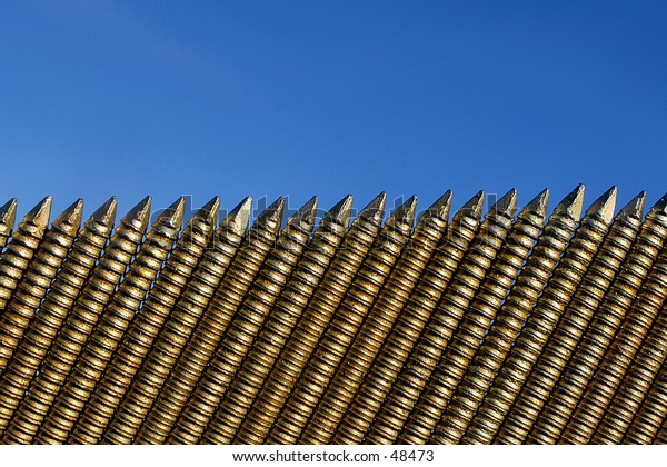 A row of nails 1
