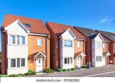 Row of new english houses