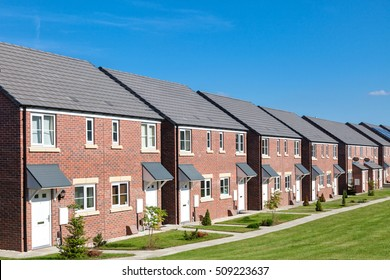 Row of new houses, England