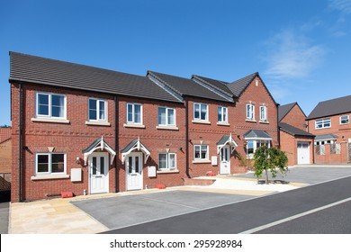 Row of new terraced houses