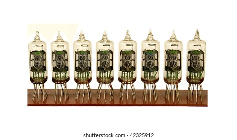 row of nixie tubes