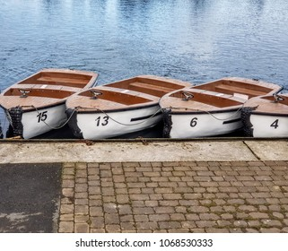 A row of numbed boats