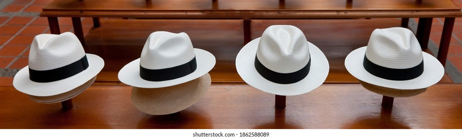 Row of Panama Hats - background banner image
