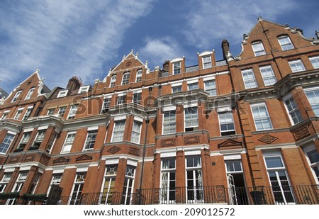 Row Red Brick Apartments Mayfair London Stock Photo (Edit Now ...