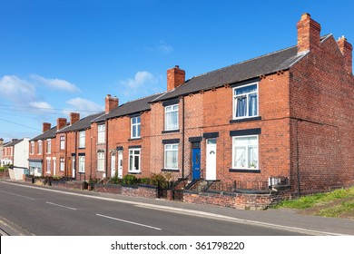 Row of red bricks terraced houses