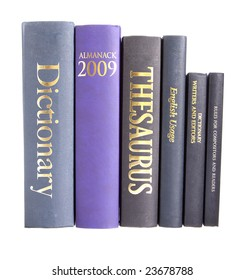 Row of reference books