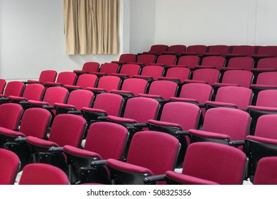 Row of seats in auditorium