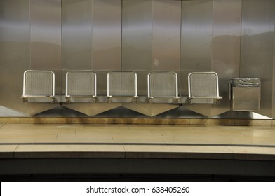 Row Of Seats In Subway Station