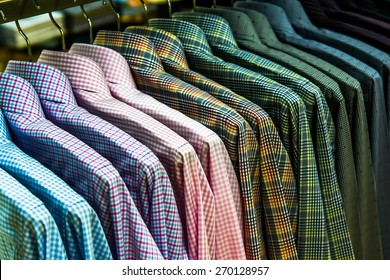 row of shirts - stripes garment collection textile style
