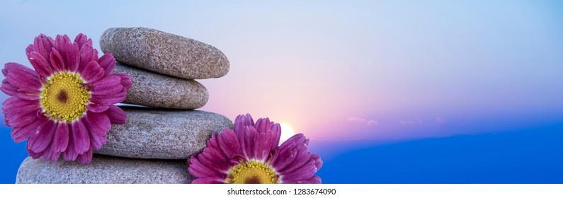 row of stones under the blue sky