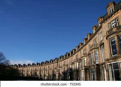 Row of town Houses in Edinburgh