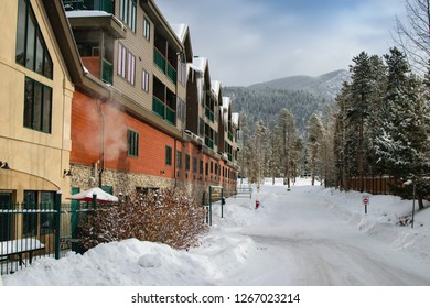 Row of Townhomes in a Mountain Ski Resort