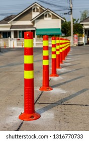 Row of Traffic cone in the road