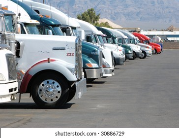Row of trucks
