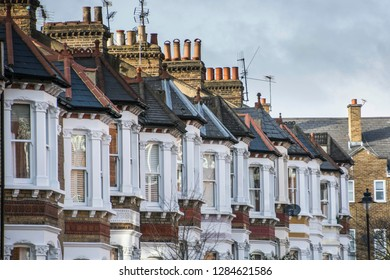 A row of typical British houses