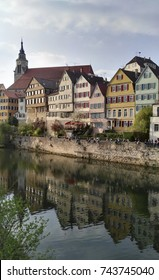 Row of typical constructions at Tubingen, Germany