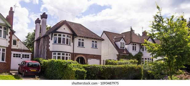 Row of typical elegant english houses