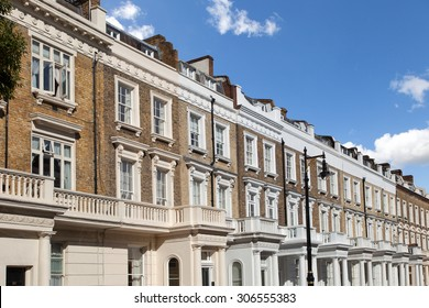 Row of typical houses in London
