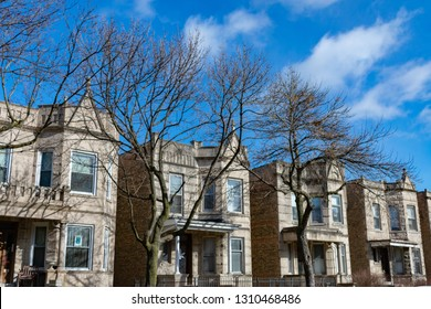 A Row of very similar Houses in Logan Square Chicago