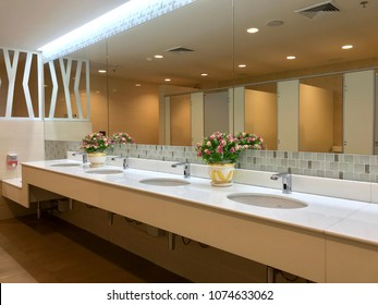 office washroom design. Row Of Wash Sink In Public Restroom, White Ceramic Basin The Toilet Office Washroom Design