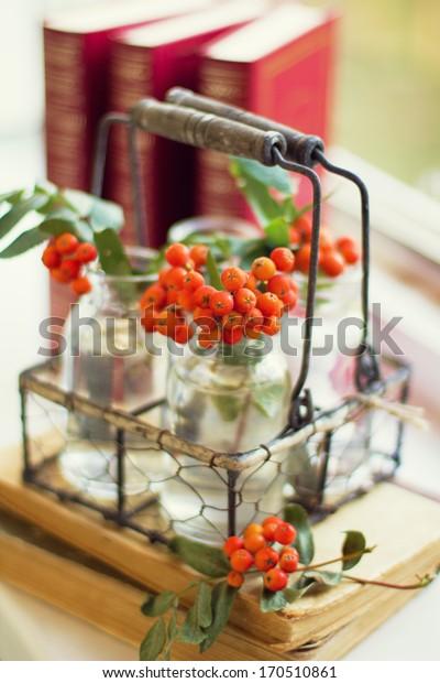 rowan berry in a vase
