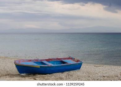 rowboat on the seashore